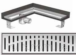 Решетка Волна ACO ShowerDrain E-Line для углового душевого канала