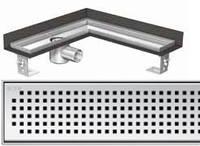 Решетка Квадрат ACO ShowerDrain E-Line для углового душевого канала, фото 1