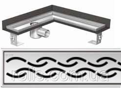 Решетка Цепочка ACO ShowerDrain E-Line для углового душевого канала