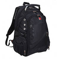 Рюкзак Swissgear 1418 черный + замок, карта-мультитул, браслет