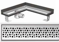 Решетка Пиксель ACO ShowerDrain E-Line для углового душевого канала, фото 1