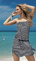 Полосатое пляжное платье на резинке Iconique KA 4165 44(M) Синий-Белый Iconique KA 4165