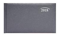 Еженедельник датированый 2018, А6 горизонтальный, серый, обложка Lizard, Brunnen