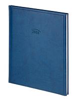 Еженедельник датированный 2018, А4, синий, обложка Torino, Brunnen