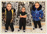 """Теплый и комфортный, зимний, детский костюм для мальчика """"Хаки, куртка + комбинезон,"""" РАЗНЫЕ РАСЦВЕТКИ"""