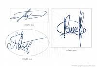 Клише резиновое для факсимиле штамп-подпись