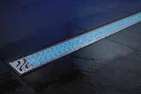 ACO ShowerDrain E-Line подсветка каналов синяя