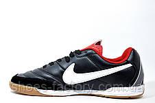 Бутсы для футзала в стиле Nike Tiempo Mystic, Black\Red, фото 3