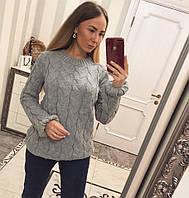 """Красивый женский теплый свитер """"Коса"""" (6 цветов)"""