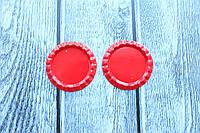 Крышечки (серединки) для бантика (заколки) красного цвета оптом