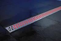 ACO ShowerDrain E-Line подсветка каналов красная