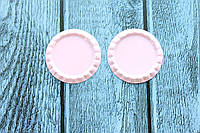 Крышечки (серединки) для бантика (заколки) нежно-розового цвета оптом