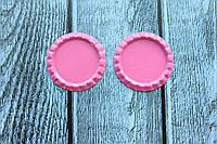 Крышечки (серединки) для бантика (заколки) ярко-розового цвета оптом