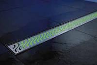ACO ShowerDrain E-Line подсветка каналов зеленая