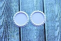 Крышечки (серединки) для бантика (заколки) сиреневого цвета 2 оптом