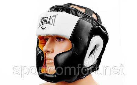 Шлем Everlast Fullface полиуретан черный