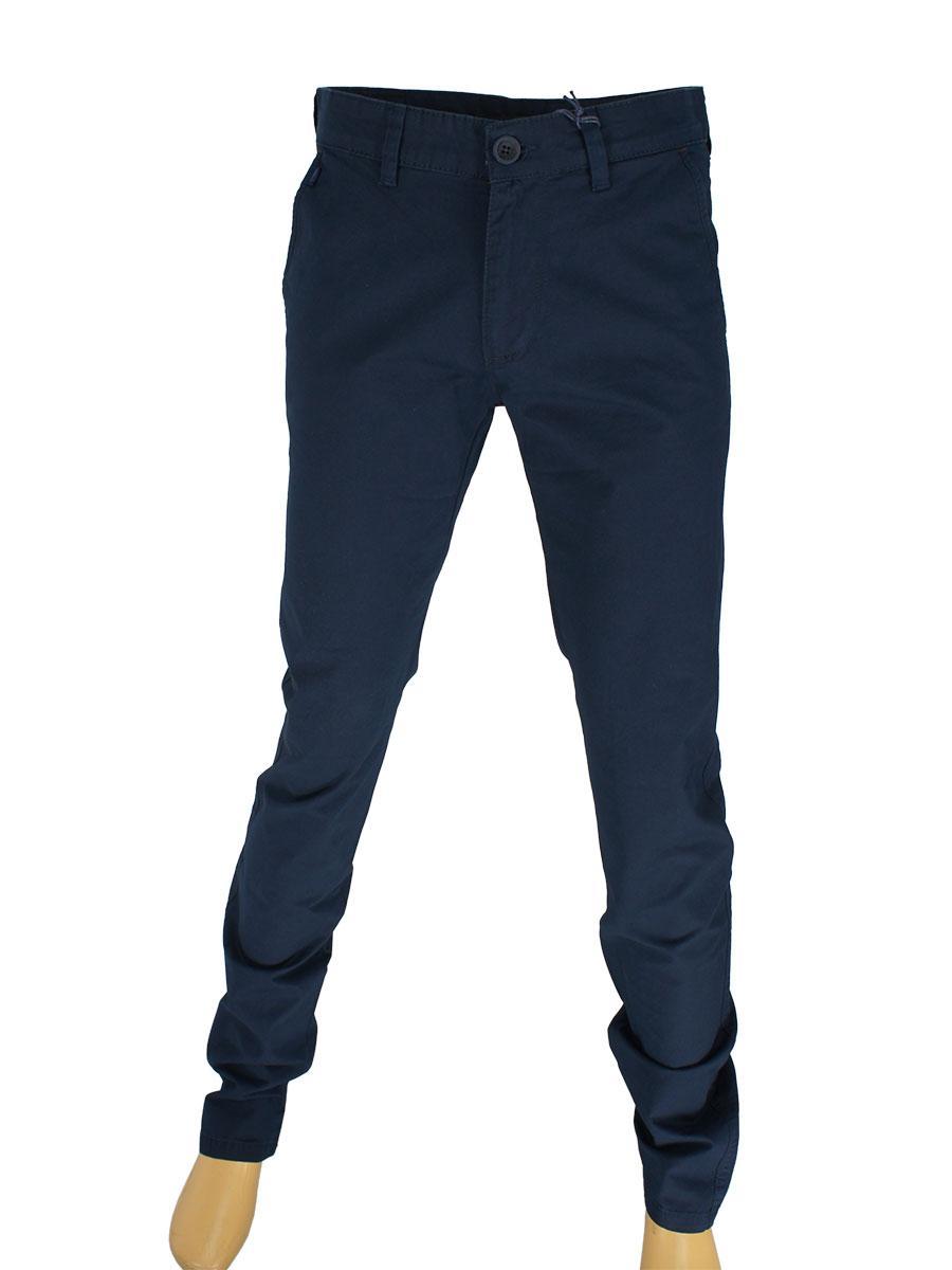 Мужские джинсы X-Foot 170-7014 темно-синего цвета