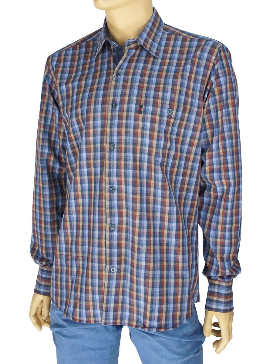 Хлопковая мужская рубашка Negredo 3000#110 indigo