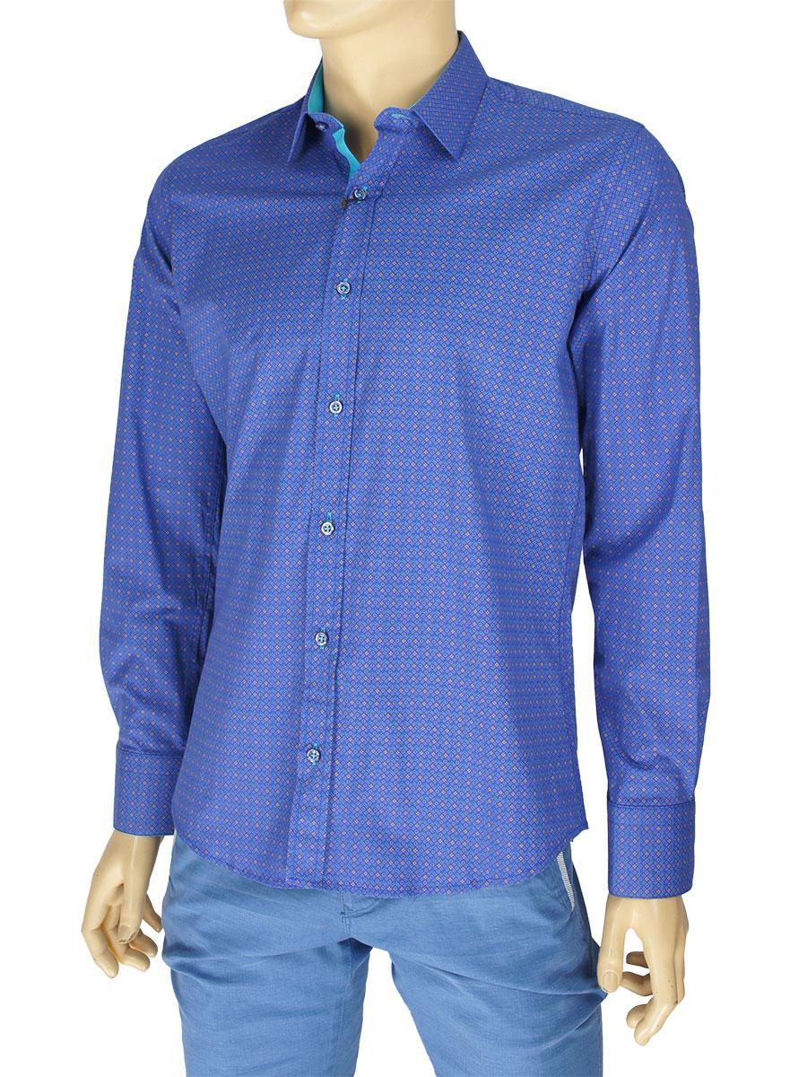 Мужская стрейчевая рубашка Negredo 0320 Slim.