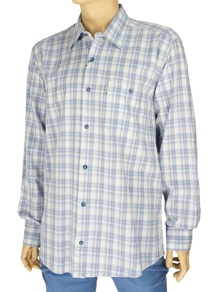Рубашка мужская хлопковая Desibel 0310 H indigo