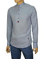 Стильная мужская рубашка Еnisse EGU1211 голубая