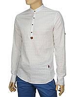 Молодежная белая мужская рубашка Еnisse EGU1211