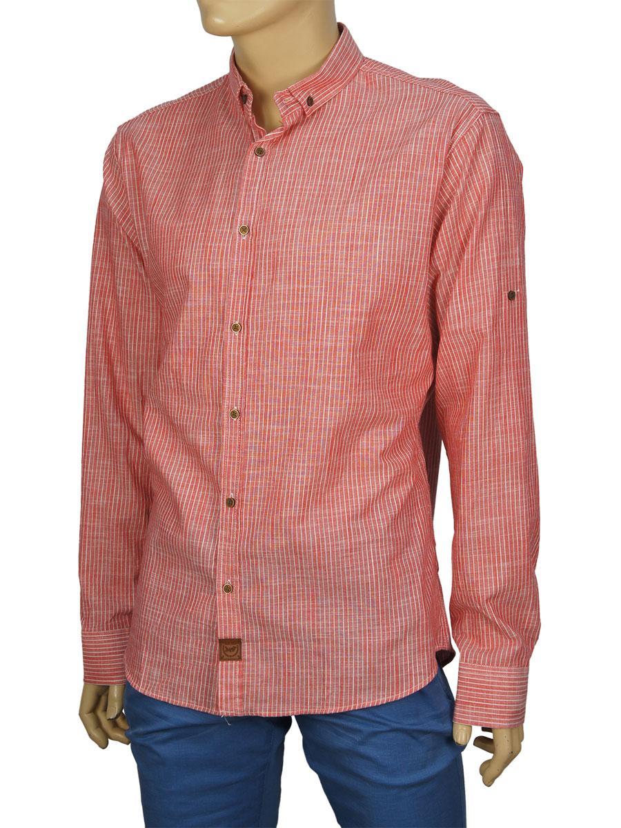 Мужская рубашка Еnisse UB51221 красная