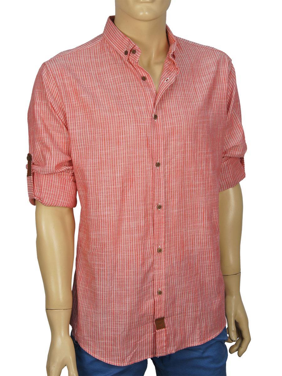 3f223c7ef71 Мужская рубашка Еnisse UB51221 красная