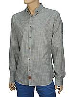Льняная мужская рубашка Еnisse серая UB51221