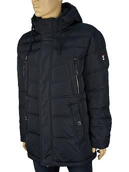 Зимняя мужская куртка с капюшоном Kings Wind 7W12 #3 в темно-синем цвете