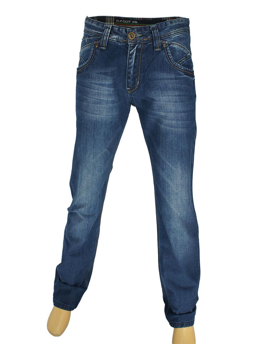 Мужские джинсы X-Foot 1221 в синем цвете