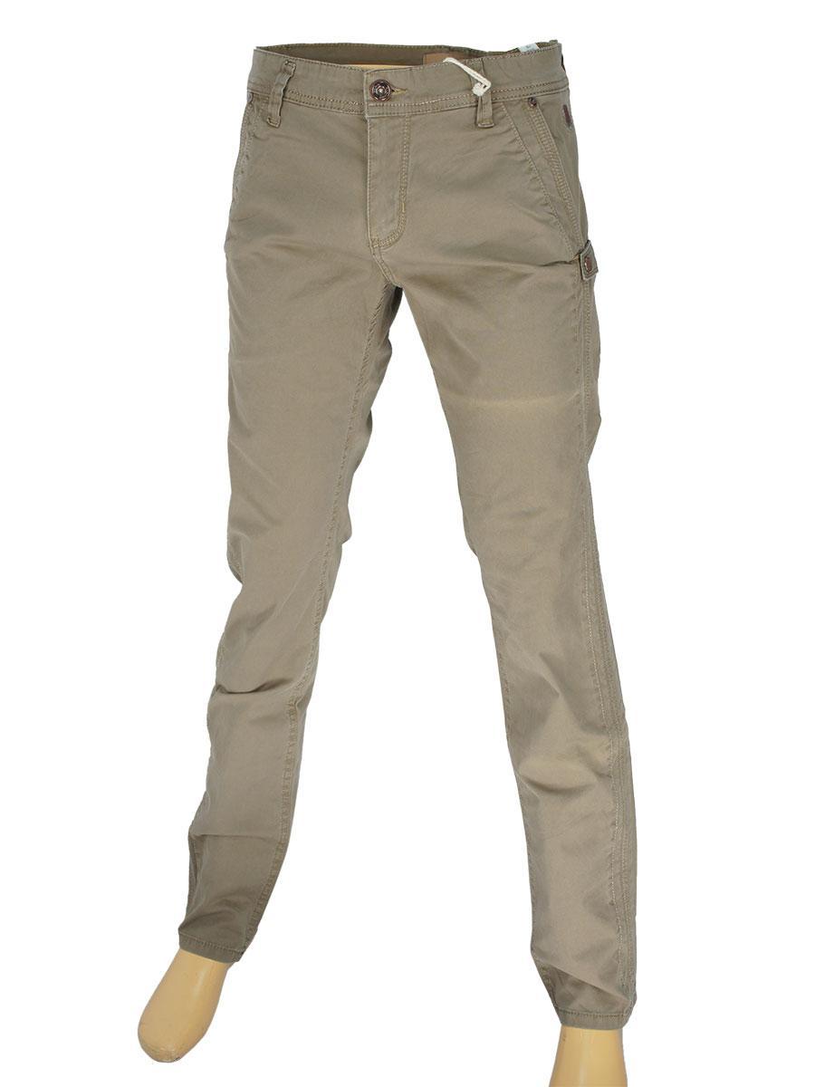 Хлопковые мужские джинсы X-Foot 2020 бежевого цвета