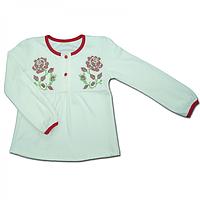 Вышиванка с длинным рукавом для девочки (2-5 лет)