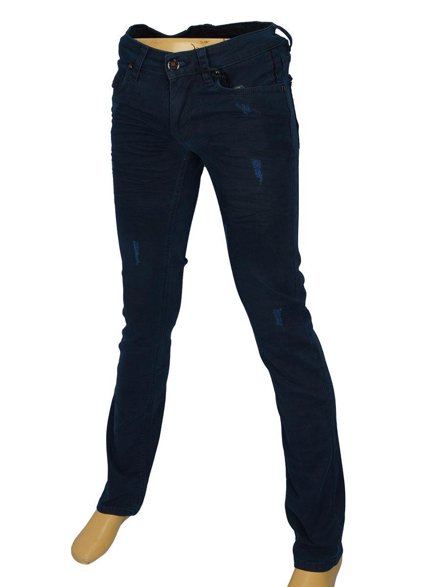 Мужские зауженные джинсы Differ E-2309-1 темно-синего цвета