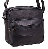 Кожаная мужская сумка через плечо Барсетка 17х18х8см