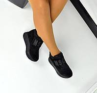 Женские замшевые демисезонные кроссовки MSGM черного цвета, 36-40р.
