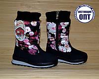 Зимние термо - сапожки на девочку цветы размеры 26 - 28, фото 1