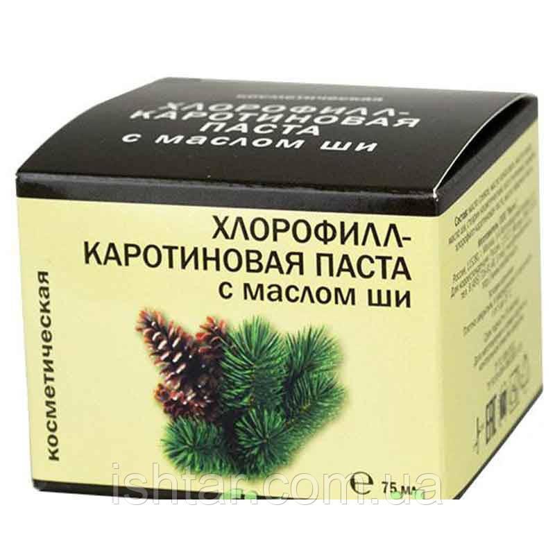 Хлорофилл-каротиновая косметическая паста с маслом ши, 75 мл, банка