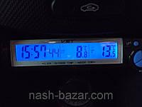 Автомобильный индикатор времени и температуры vst-7043, будильник, секундомер, наружный датчик, фото 1