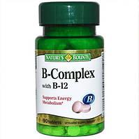 Натуральные витамины В-комплекс, витамин В с В-12 Nature's Bounty