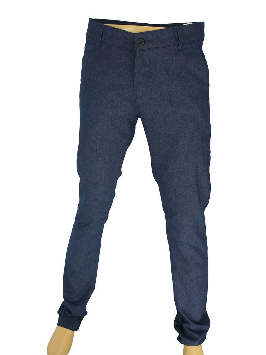 Стильні чоловічі брючні джинси NAX 170-5126  в темно-синьому кольорі