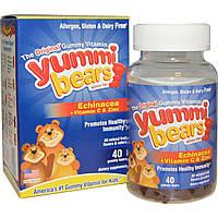 Hero Nutritional Products, Yummi Bears, эхинацея + витамин C и цинк, 40 шт.