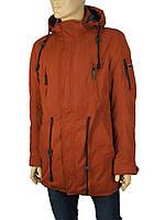 Чоловіча подовжена куртка Malidinu 15222/5D у теракотовому кольорі