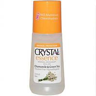 Минеральный Дезодорант с ромашкой и зеленым чаем  Roll On, Crystal Essence, с США Crystal Body Deodorant