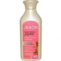 Натуральный шампунь для поврежденных длинных волос с экстрактом жожоба. Jason Natural (473 мл)