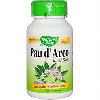 Кора муравьиного дерева, Pau d'Arco, 545мг, 180 капсул, Nature's Way