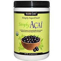 Ягоды Асаи, порошок, Madre Labs, simply acai organic powder, 227 гр