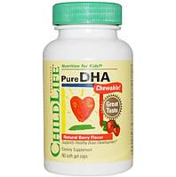 Рыбий жир для детей с ягодным вкусом (DHA), ChildLife, 90 капсул