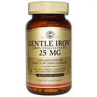 Мягкое железо, Solgar, Gentle Iron, 25 мг, 180 капсул