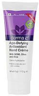 Антивозрастной антиоксидантный крем для рук с МСМ, оливковым маслом и экстрактом алоэ, 113 грамм, Derma E